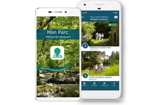 Gardez le contact avec le PNR, avec l'application « Mon Parc ».
