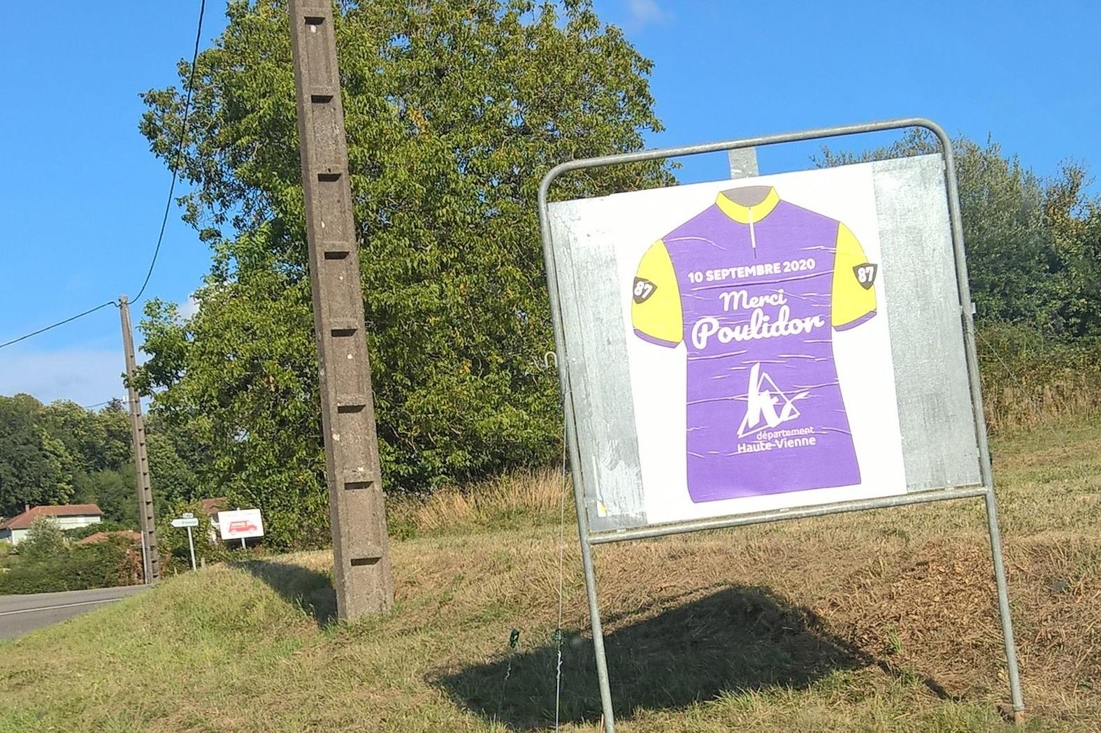 Le passage du Tour de France en Haute-Vienne est  l'occasion de rendre hommage à Raymond Poulidor.