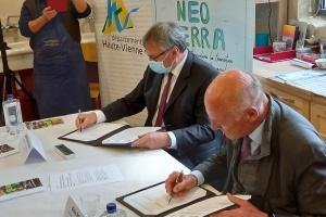 La convention Néo Terra signée entre la Région Nouvelle-Aquitaine et le département de la Haute-Vienne