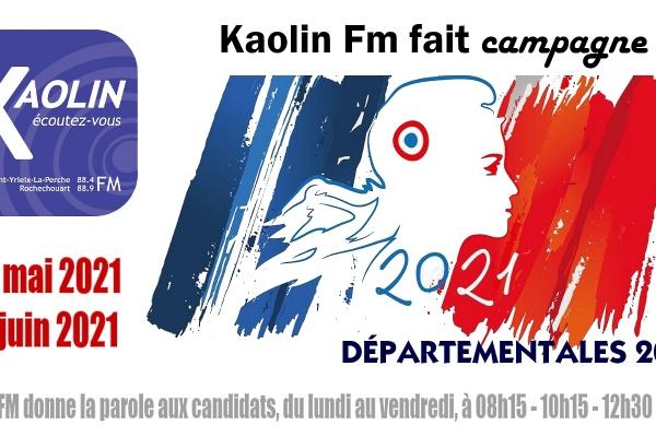 Kaolin FM fait campagne pour les Départementales 2021