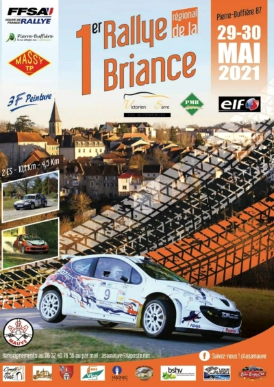 Un premier Rallye de la Briance sans public les 29 et 30 mai 2021