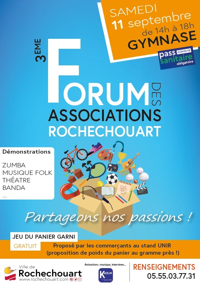 Rochechouart : Une journée pour découvrir les associations de la ville le samedi 11 septembre 2021
